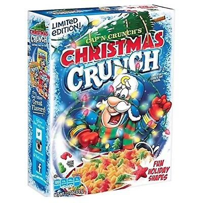 New Quaker Cap'n Crunch Limited Edition Christmas Crunch 13 Ounce Holiday Shapes