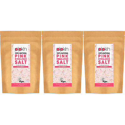 Pipkin FINE Pink Himalayan Salt 100% Natural Edible Unrefined 500g / 1KG / 1.5KG