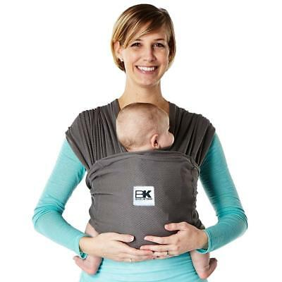 Baby K'tan BREEZE Cotton Mesh Wrap style Carrier, Charcoal, Small