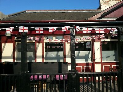 BARGAIN!!!! England St George 6M 20ft 12 Flag Bunting World Cup 2018 pub house