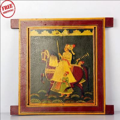 Wooden Handcrafted Scenery Beautiful Hand Painted Picture Wall Window 9574