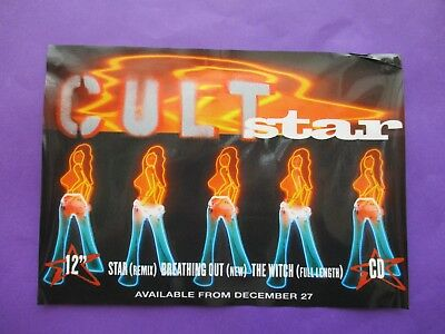 "The Cult ORIGINAL 1994 UK PROMO WINDOW STICKER 12"" x 8"" Star"