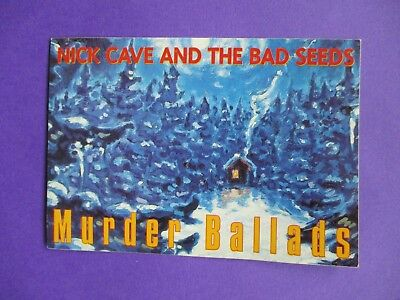 Nick Cave & Bad Seeds ORIGINAL 1996 PROMO POSTCARD Murder Ballads 2 sided Mute