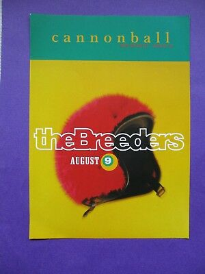 The Breeders ORIGINAL 1993 PROMO FLYER Cannonball 2 SIDED A5 4AD pixies poster