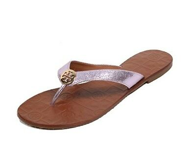 064b2990f TORY BURCH SHOES flats sandals flip flops Thora spark gold leather 8 ...