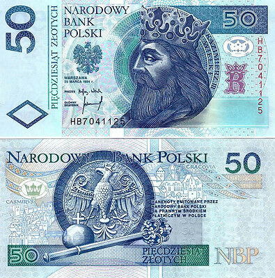 ■■■ Poland 50 zl P-175 1st RELEASE 1994 replaced after 04.2014 UNC and Rare ■■■