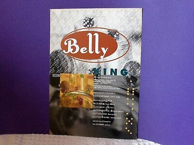 Belly ORIGINAL 1995 PROMO 2 sided A5 FLYER King + tour dates 4AD tanya donelly