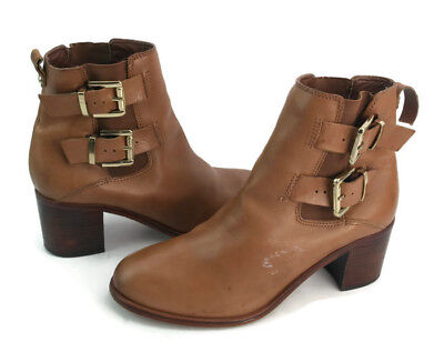 245652adfb6bc Sam Edelman Jodie Women s Brown Leather Pull On Ankle Boots US Size ...