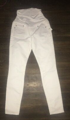 NWOT Gap  Maternity 1969 Full Panel Authentic True Skinny White Jeans  28R (6)