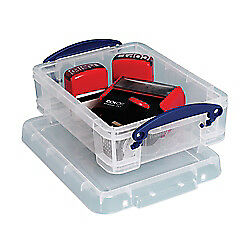 Really Useful Box(R) Plastic Storage Box, 1.75 Liters, 9 1/2in. x 7in. x 3in.,