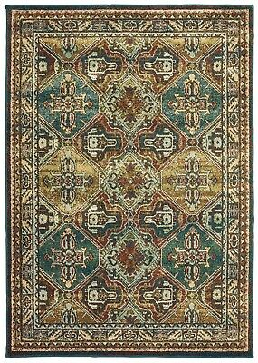 Blue//Green//Ivory 8021B Dawson Abstract Casual Area Rug by Oriental Weavers