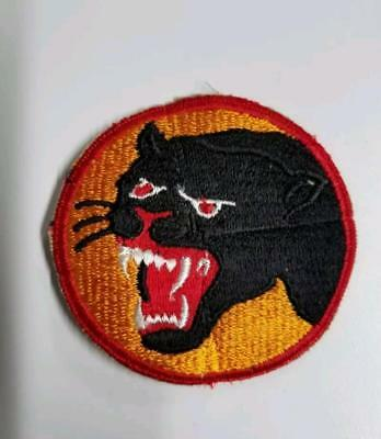 66th Infantry embroidered patch US Army Black Panther Division WWII original