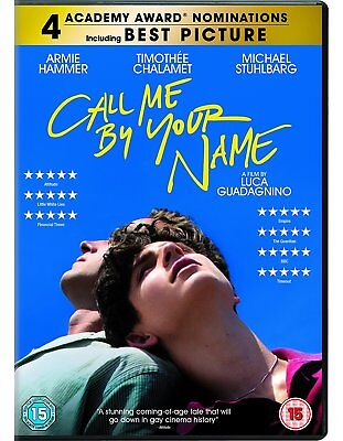 Call Me By Your Name Armie Hammer DVD Fast Post Timothee Chamalet 503582201893