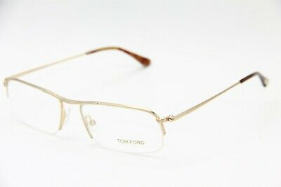 14abe105220a NEW TOM FORD Tf 5211 028 Gold Eyeglasses Authentic Rx Tf5211 55-17 W ...