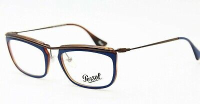 f21bf74c9aa42 BRAND NEW PERSOL P 3029-V 9003 Blue Eyeglasses Authentic Rx P3029-V ...