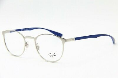 15697fdfa13 NEW RAY-BAN RB 6355 2538 Silver Authentic Rx Eyeglasses Rb6355 47-20 ...
