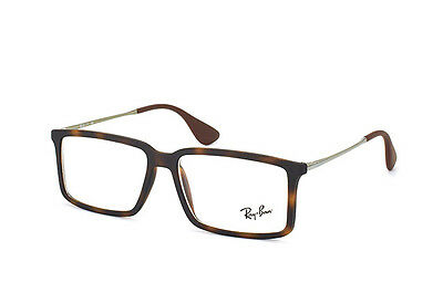 f5d1226e1c New Ray-Ban Rb 7043 5365 Havana Rubber Eyeglasses Authentic Frames Rx Rb7043