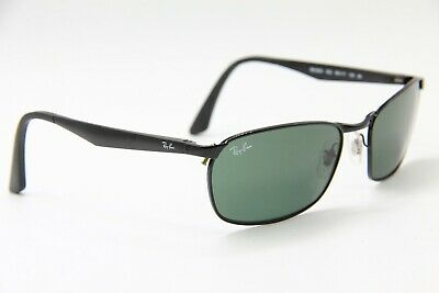 519897bd88 NEW RAY-BAN SUNGLASSES Rb 3534 002 Black Authentic Frame 59-17 ...