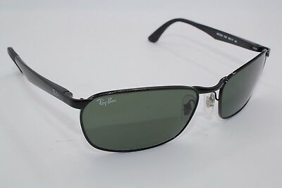 d7b8bb8077 NEW RAY-BAN SUNGLASSES Rb 3534 002 Black Authentic Frame 59-17 ...