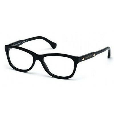 8fb73e09e5b New Balenciaga Ba 5002 001 Black Eyeglasses Authentic Ba5002 53-15 W case !