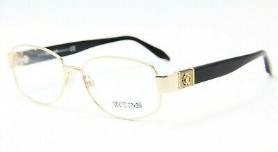 87f3ad014f New Roberto Cavalli Hao 699 028 Gold Black Eyeglasses Authentic Rx W  Case