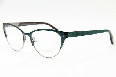 bfff4f0e923 Tom Ford Tf 5318 089 Green Eyeglasses Authentic Rx Tf5318 53-17 W  Case