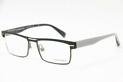 5cae244f37e8 Brand New Alain Mikli A02010 M0Jv Eyeglasses Grey Authentic Frames Rx 54-18