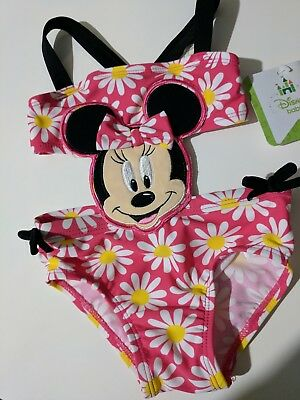 Disney Baby Girl Minnie Mouse UPF 50 bathing suit swim suit size 6 months NEW