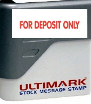 FOR DEPOSIT ONLY -Ultimark Pre-inked Message Stamp with Red Ink