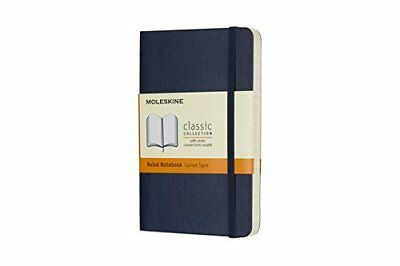 Moleskine Sapphire Blue Pocket Ruled Notebook Soft