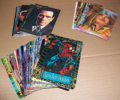 Spiderman, Batman, X-men collectors cards 90s LOT BUNDLE