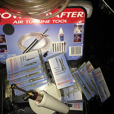 PowerCrafter,air Turbine tool,lots of extras,great for glass and wood engraving