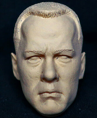 1/6 scale resin unpainted action figure head sculpt tom hanks hot dam toys