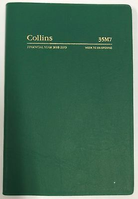 Collins 2018 - 2019 Financial Year Diary Week To Open B7R Green 35M7.v40 - 1819