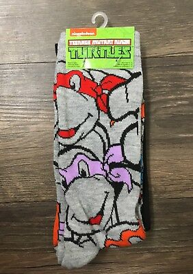 fca160400de9 LOT OF 2 Pair Teenage Mutant Ninja Turtles Socks [Shoe Size 6-12 ...