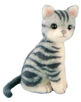 Hamanaka Felt wool kit fluffy cat American Shorthair H441-426 Japan Import