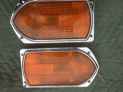 Guide R8-53 fire Truck Engine amber signal lights Arrow Lenses Housing Rat Rod