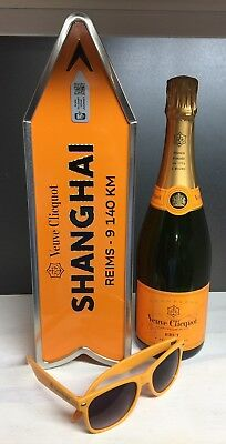 Veuve Clicquot Champagne Destination Arrow Tin Box SHANGHAI Journey Street Sign