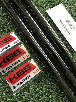 KBS $-Taper Wedge Shafts (3) Black PVD Finish 120 Stiff Certified Dealer