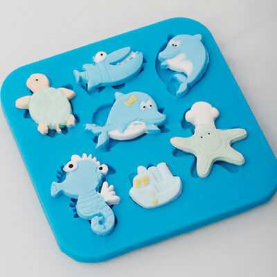 Marine Animal Shape Cakes Sugarcraft Embosser Home Kitchen Mold Maker Tool