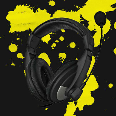 Gaming Headset Mic Stereo Surround Headphone 3.5mm Wired For  PC Laptop 3.5mm