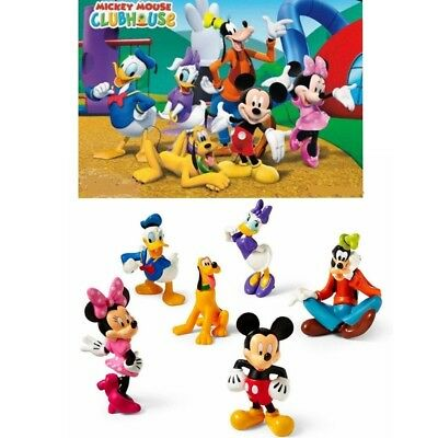 Mickey Mouse Clubhouse 6Pcs Figures Collection Set PVC Toys Gifts Cake Topper UK
