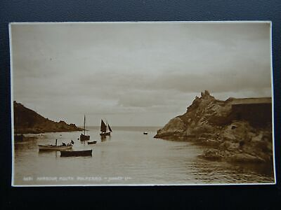 Cornwall POLPERRO Harbour Mouth c1922 RP Postcard by Judges 6691