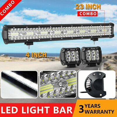 23inch Philips Led Light Bar Spot Flood CREE Offroad Driving Lamps 4WD 4x4 Truck