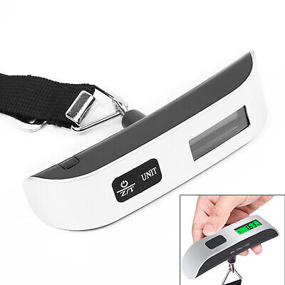 50kg Portable Travel LCD Digital Hanging Luggage Scale Electronic Weight Tool