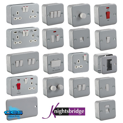 Metal Clad Electrical Fittings Switches And Sockets Workshop Garage Industrial