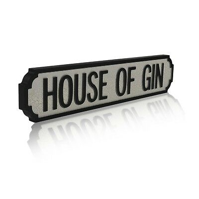 HOUSE OF GIN Vintage Style Wooden Road Street