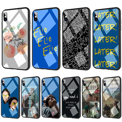 Call Me By Your Name Tempered Glass TPU Case for iPhone XS Max X 8 7 6 6S Plus 5