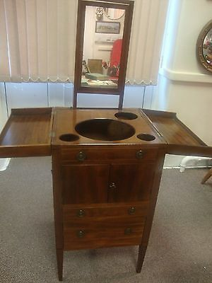 George III Early 19thc Mahogany Gentlemans Wash Cabinet/Stand.