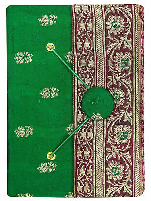 50 Pages Handmade Paper Saree Cover Notebook Mini Diary Journals-4 X 6 Inches